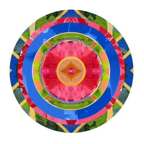 Pink, Green and Blue Mandala