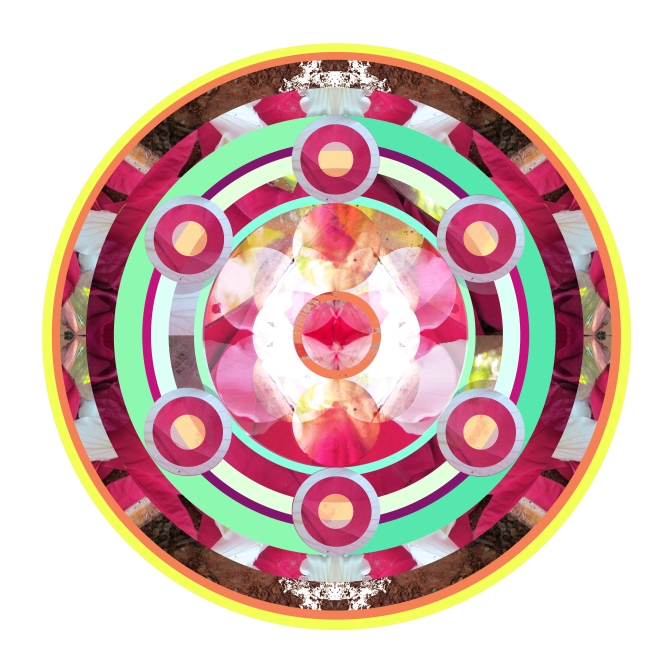 Hot Pink and Turquoise Mandala